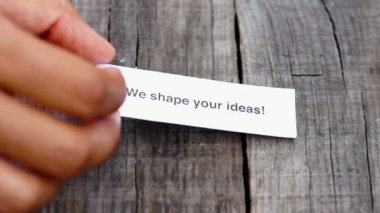 We shape your ideas — Stock Video