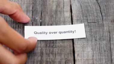 Quality over Quantity — Stock Video