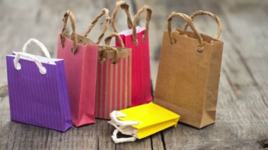 Shopping Bags — Stock Video