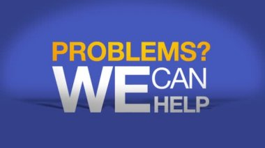 Problems we can help — Stock Video