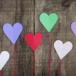 Stock Photo: Paper Hearts