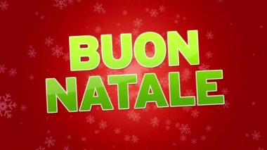 Merry Christmas (In Italian) — Stock Video