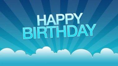 Happy Birthday Advertisement — Stock Video