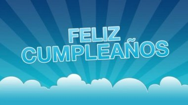 Happy Birthday Advertisement (In Spanish) — Stock Video