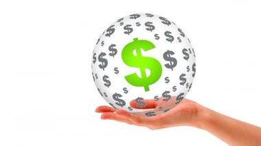Money Sphere — Stock Video