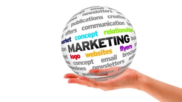 Esfera Marketing — Vídeo de stock