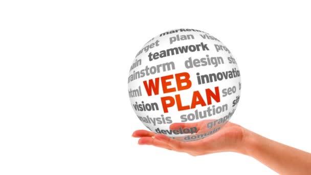 Sphère de mot plan web — Vidéo