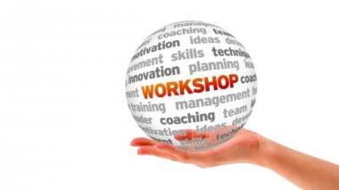 Workshop Word Sphere — Стоковое видео