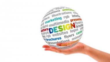 Слово Дизайн Сфера — Стоковое видео