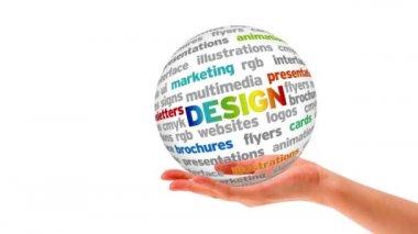 Design Word Sphere — Stock Video