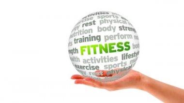 Fitness Word Sphere — Stock Video