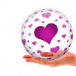Pink hearts Sphere — Stock Video
