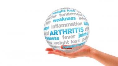 Arthritis word Sphere — Video Stock