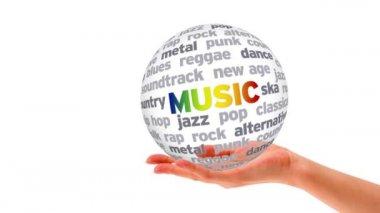 Music Word Sphere — Stock Video