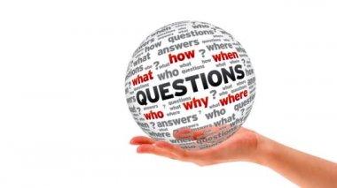 Questions word Sphere — Стоковое видео