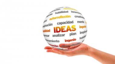 Ideas Word Sphere (In Spanish) — Stock Video