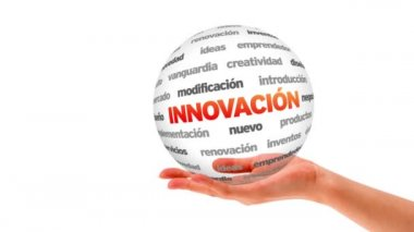 Innovation word sphere (In Spanish) — Vídeo de stock