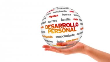 Personal Development word sphere (In Spanish) — Stock Video