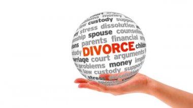 Divorce Word Sphere — Stock Video