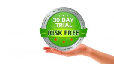 30 Day Trial Risk Free Sign — Stock Video