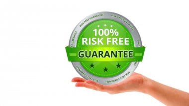 Risk free guarantee — Stock Video