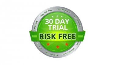 30 day trial risk free guarantee sign — Stock Video