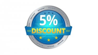 5 percent Discount — Stok video