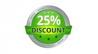 25 percent Discount — Video Stock