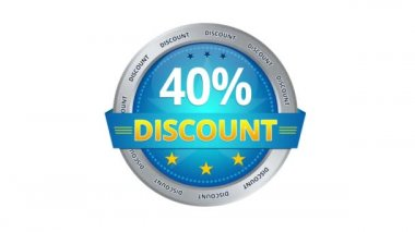 40 percent Discount — Stok video