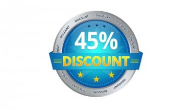 45 percent Discount — Stok video