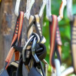 Stock Video: Mountain Climbing Carabiner