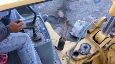 Construction Excavator — Video Stock