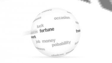 3d Opportunities word Sphere — Stock Video
