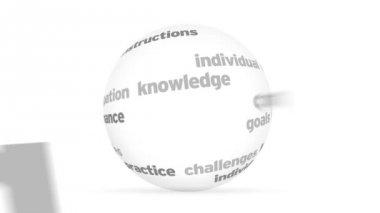 3D training word Sphere — Stock Video