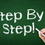 Step by Step Chalk Illustration — Stock Photo