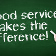 Stock Photo: Good Service makes difference Chalk Illustration