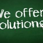 We offer Solutions Chalk Illustration — Stock Photo