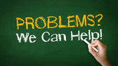Problems we can help Chalk Illustration — Stock Photo