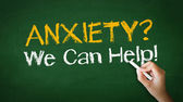 Anxiety we can help Chalk Illustration — Stock Photo