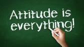 Attitude is everything Chalk Illustration — Stock Photo
