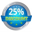 Stock Photo: 25 percent discount