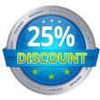 25 percent discount — Stock Photo