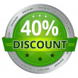 40 percent Discount — Stock Photo