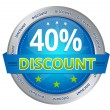 Stock Photo: 40 percent discount