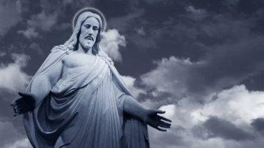 İsa i̇sa heykeli — Stok video