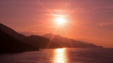 Beautiful sunset  near Puerto Vallarta — Stock Video