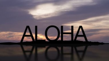 Aloha Sunset Timelapse — Stock Video