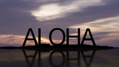 Aloha Sunset Timelapse — Stock Video