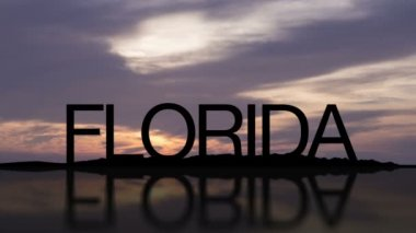 Word Florida With Sunset — Stock Video