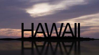 Hawaii Sunset Timelapse — Stockvideo